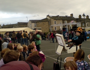 Rough Magic Theatre's Collette Knowles entertains the crowds.