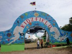 The entrance to the Kidz Field, (sometimes only pretending to be an aeroplane will get you in & out)