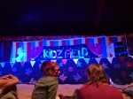 Our Kidz Field Staff briefing in the Kidz Field Circus Tent.