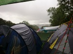 Traditional Glastonbury torrential rain :)