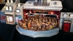 """French company """"Kabaret de Poche""""'s fabulous miniature theatre, complete with miniature """"fimo"""" audience who applaud and help themselves to drinks in between the cabaret acts!"""